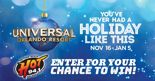 HOT 94.1 Wants You To Enjoy The Holidays At Universal Orlando Resort!