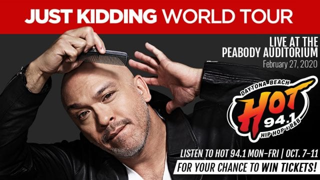Jo Koy Just Kidding World Tour is coming to Daytona and you can win tickets from HOT 94.1