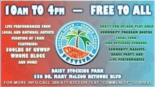 2018 Daytona Beach Summer Splash Community Unity Festival graphic