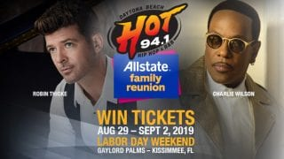 Allstate Family Reunion concerts with Robin Thicke and Charlie Wilson — win tickets from HOT 94.1