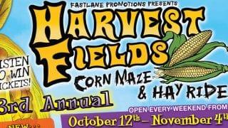Listen To Win Tickets to Harvest Fields Corn Maze & Hay Ride