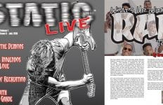 Brandi's Article in July edition of Static Live Magazine