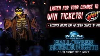 HOT 94.1's 2019 Halloween Horror Nights at Universal Orlando Resort Sweepstakes